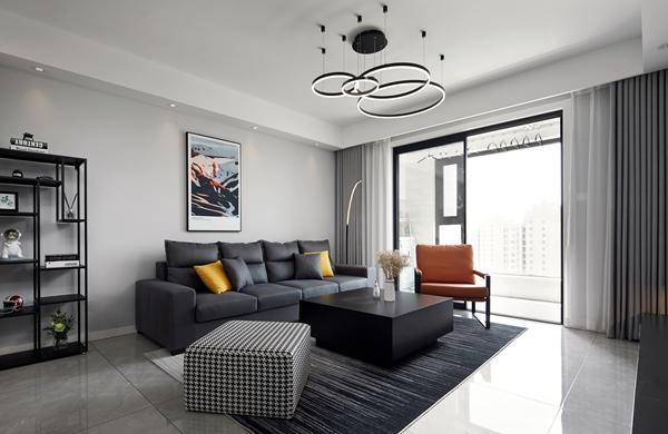 现代简约-孔雀雅园-三室两厅-125平-装修实景效果图