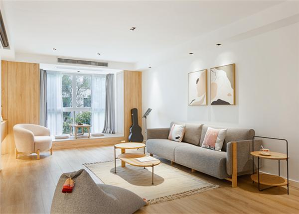 现代简约风格-五爱家园-三室两厅-120平-装修实景效果图