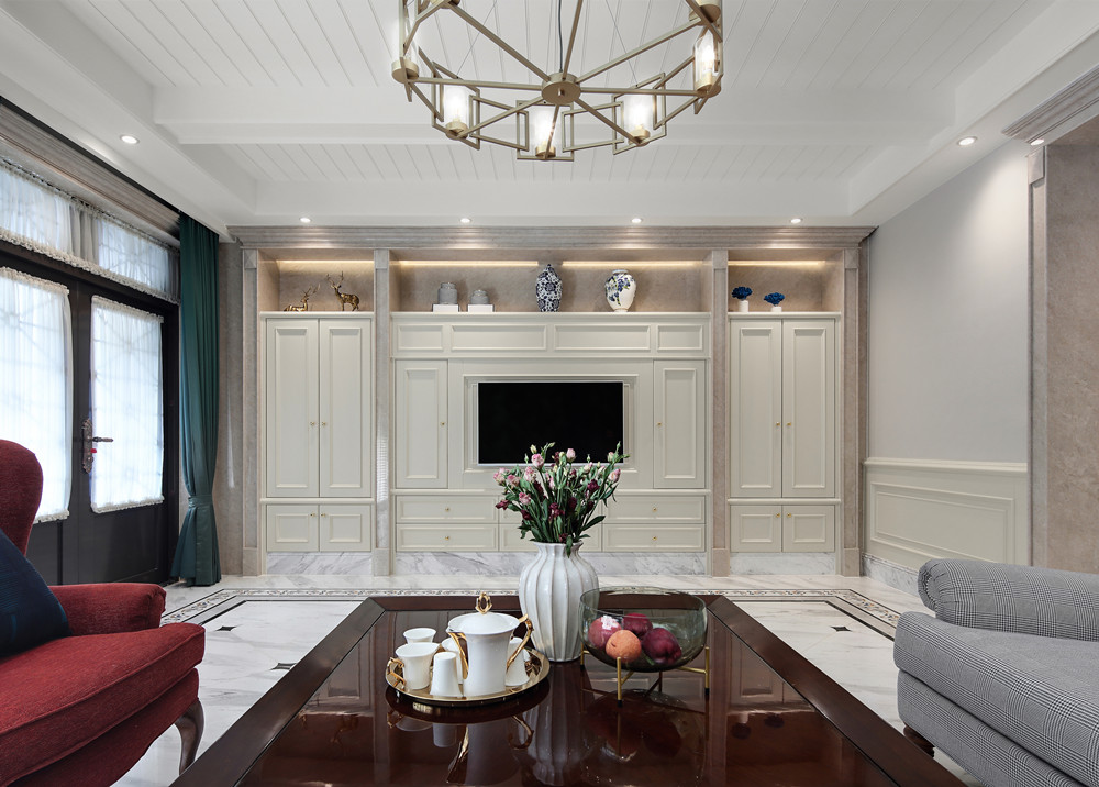美式风格-阿卡迪亚-别墅-400平-装修效果实景图