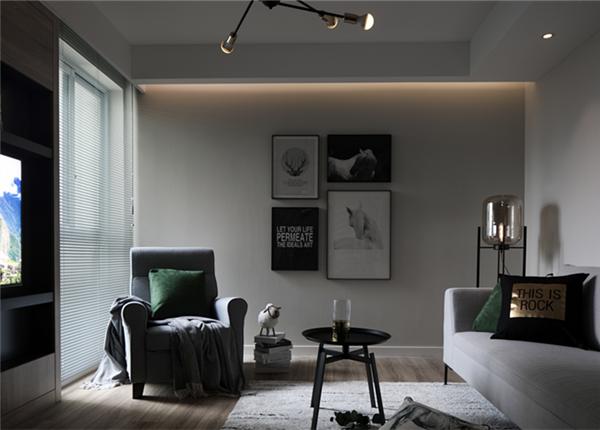 北欧-清扬御庭-两室两厅-89平-改造实景效果图