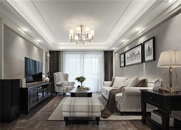 简美-复地悦城-三室两厅-119平-改造实景效果图