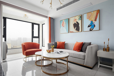 现代轻奢风格-广益博苑-两室一厅-80平-装修实景效果图