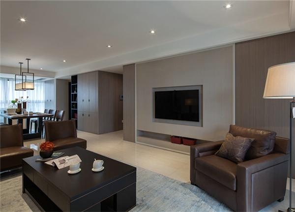 现代简约风格-桑达园-三室两厅-130平-装修效果图