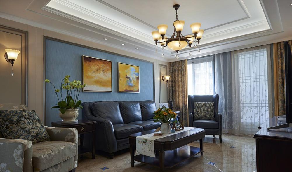 美式风格- 阳光城市花园-四室两厅-160平-装修效果实景图