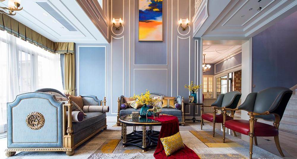 美式风格-马山御园-别墅-600平-装修效果实景图