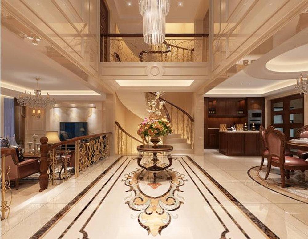 欧式风格-复地澜湾-别墅-480平-装修效果图