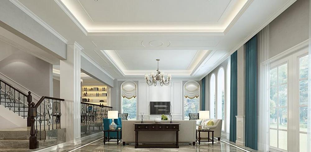 美式风格-天池湾-别墅-480平-装修效果图