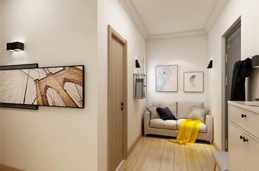 北欧风格-前进花园-两室一厅-59平-装修效果图