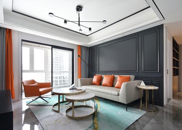 现代简约风格-世茂时光里-三室两厅-130平-装修实景效果图