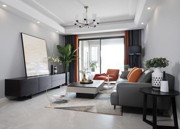 现代简约-九龙仓碧玺-三室两厅-128平-装修效果实景图