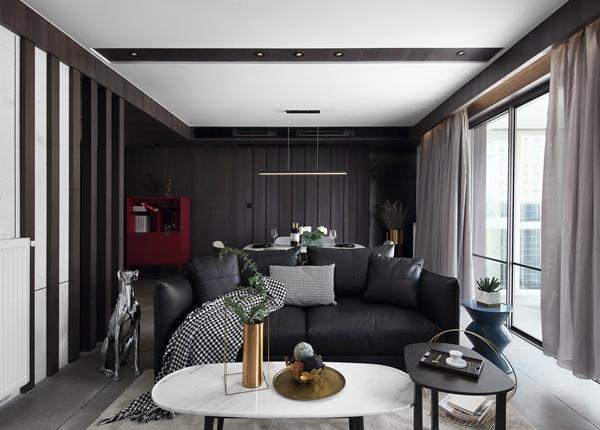 现代简约-繁华里-三室两厅-140平-装修实景效果图