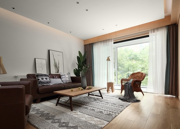 日式风格-西水东-三室两厅-140平-装修实景效果图