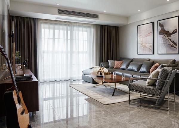 现代风格-东城中央府-三室两厅-160平-装修实景效果图
