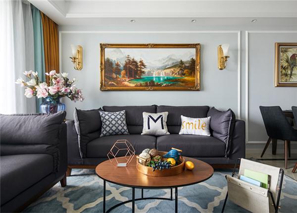 混搭风格-中海凤凰熙岸-三室两厅-118平-装修实景效果图