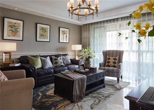 美式风格-太湖国际拾壹峯-三室两厅-158平装修实景效果图