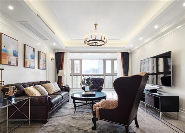 现代美式风格-玉兰花园-四室两厅-180平-装修实景效果图