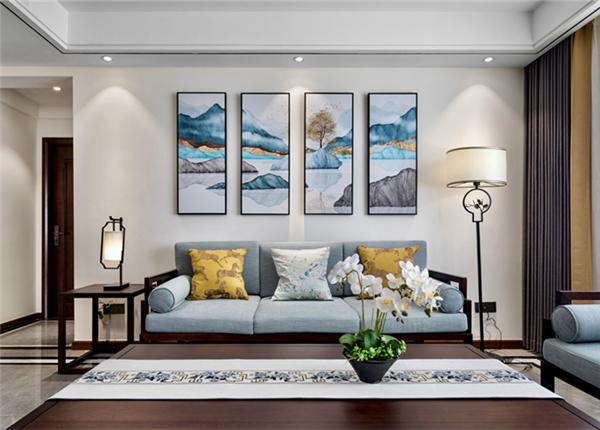 新中式风格-国信世家-三室两厅-140平-装修实景效果图