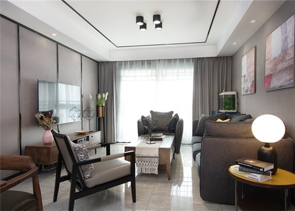 现代轻奢-九龙仓年华里-三室两厅-122平-装修实景效果图