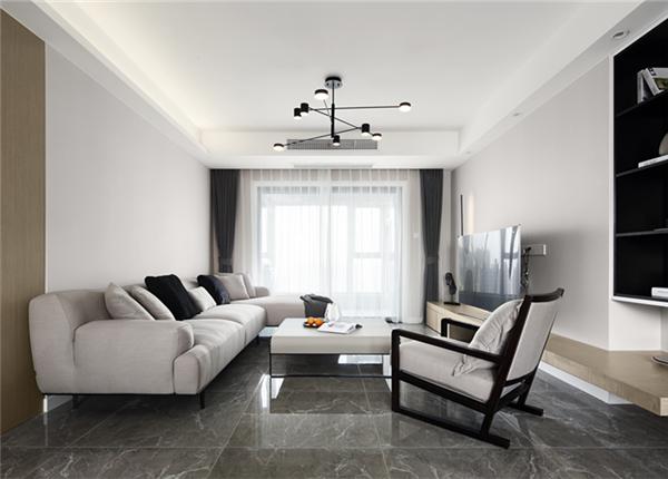 现代简约-九龙仓碧玺-三室两厅-128平-装修实景效果图