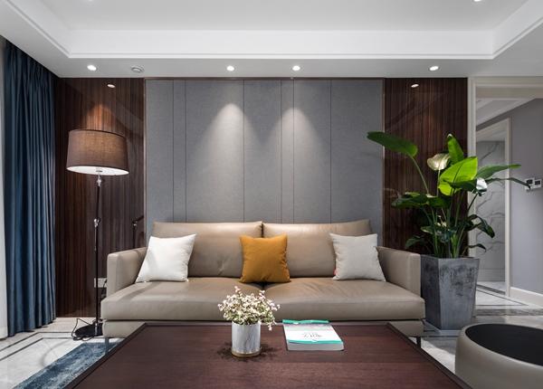 现代轻奢风格-瑷颐湾-三室两厅-130平-装修实景效果图