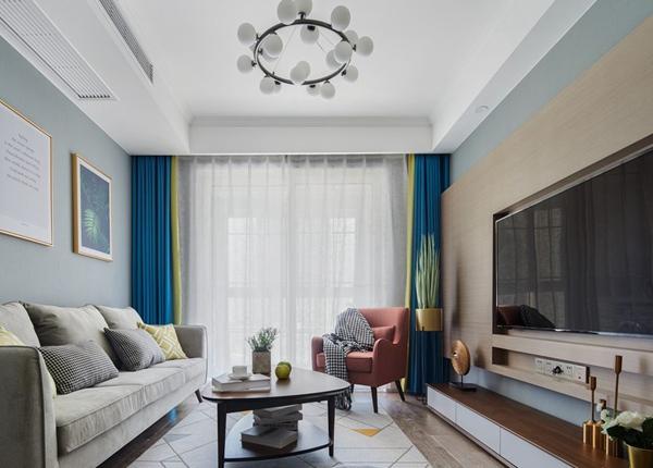 北欧风格-凤凰城-两室两厅-80平-装修实景效果图