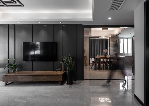 现代简约-爱家华城-三室两厅-127平-装修实景效果图