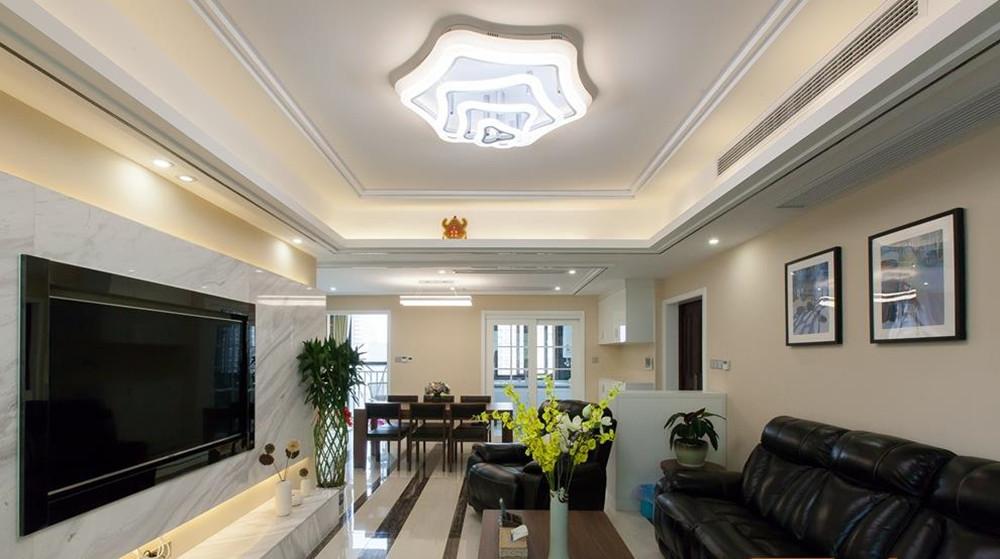 现代简约风格-国联恒园-四室两厅-140平-装修实景效果图