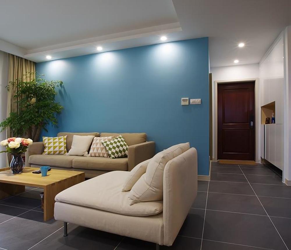 现代简约风格-京梁合-两室两厅-90平-装修实景效果图