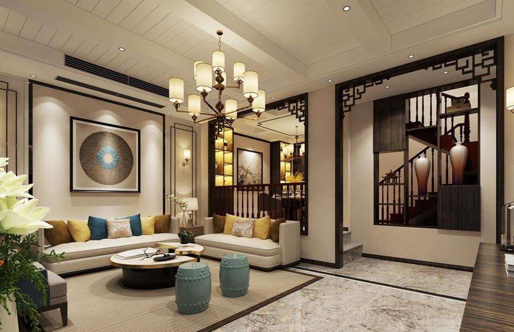 新东方主义风格-长泰国际-别墅-370平装修效果图