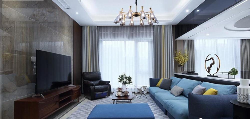 现代风格-万业观山泓郡-四室两厅-装修实景效果图