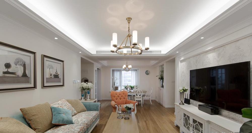 简美风格-繁华里-三室两厅-130平-装修实景效果图