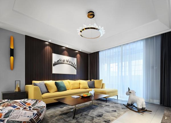现代时尚风格-海岸城-四室两厅-140平-装修实景效果图