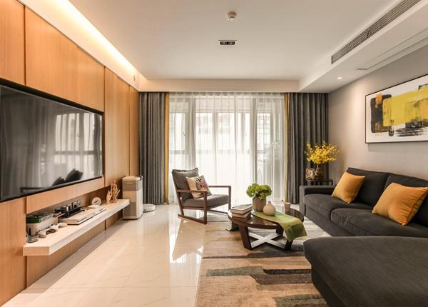 现代简约风格-雅苑-三室两厅-120平-装修实景效果图