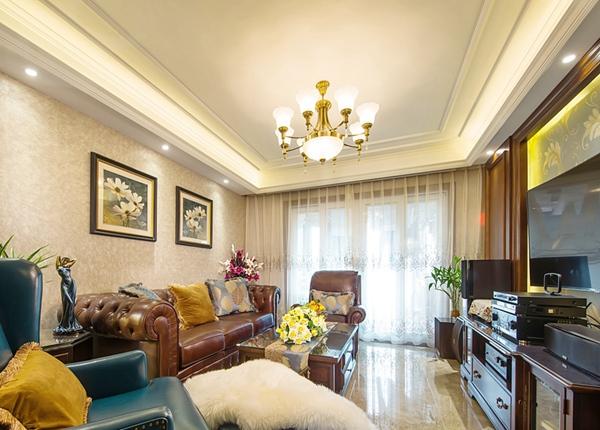 美式风格-九龙仓碧玺-四室两厅-139平-装修实景效果图
