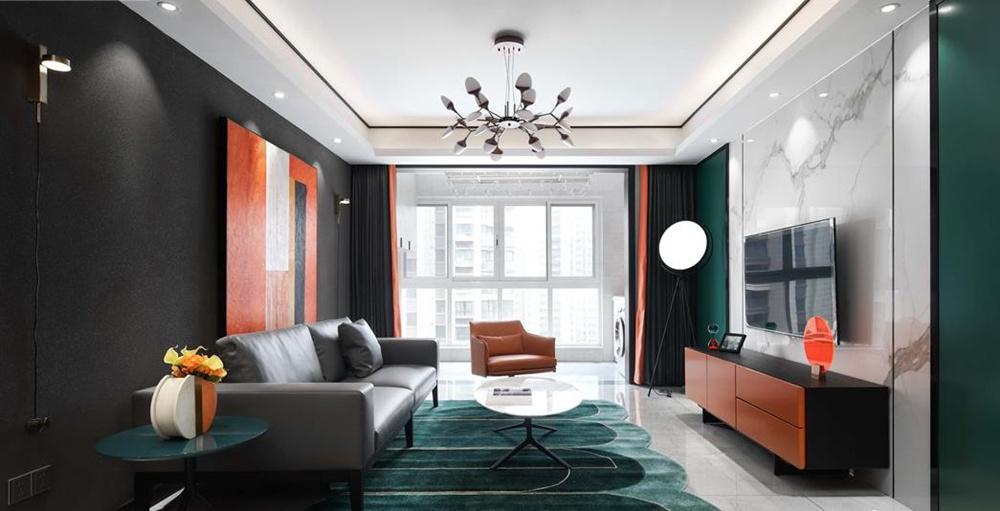 现代轻奢风格-万达荣域-三室两厅-137平-装修实景效果图