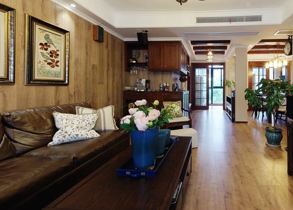 美式田园-太湖国际-四室两厅-135平-装修效果实景图