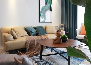 北欧风格-孔雀城-三室两厅-86平-装修实景效果图