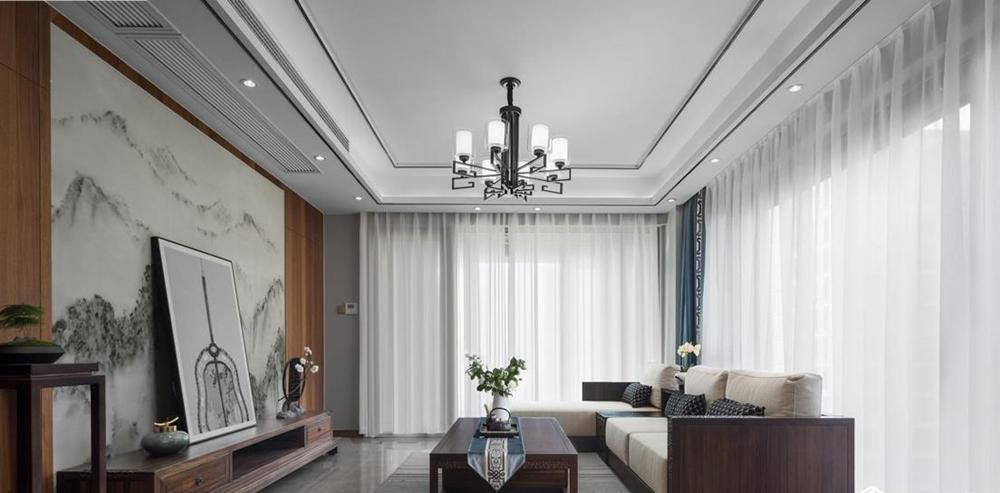 新中式风格-玉兰花园-四室两厅-165平-装修实景效果图