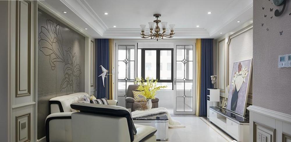 现代法式风格-星海公馆-三室两厅-140平米-装修实景效果图