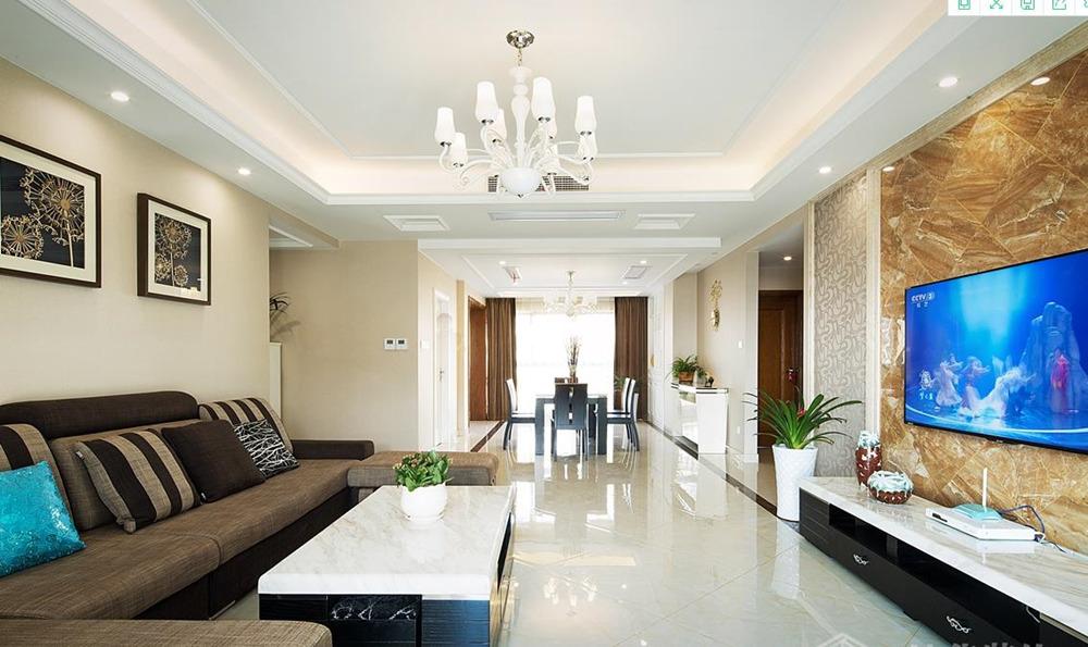现代简约风格-太湖锦园-三室两厅-140平-装修实景效果图