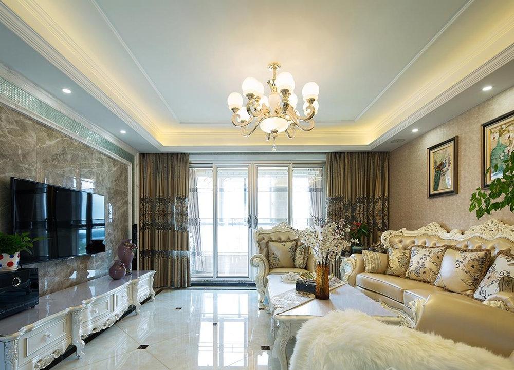 简欧风格-国信观湖湾-三室两厅-140平-装修实景效果图