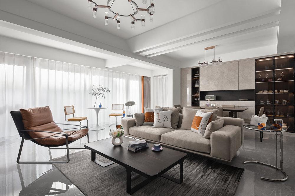 现代简约-红豆天一华府-四室两厅-250平-装修实景效果图