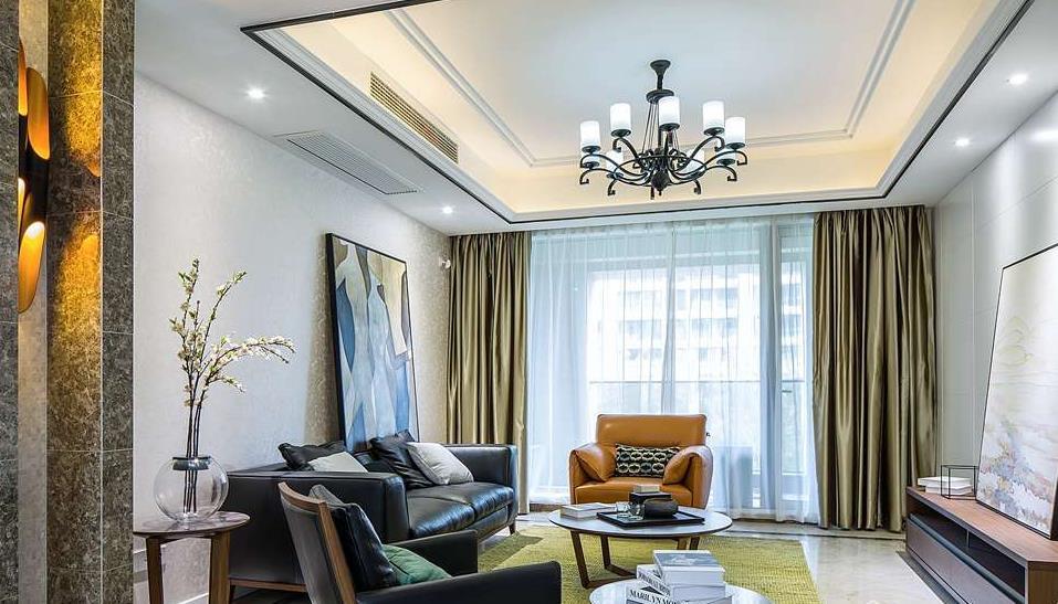 现代简约-玉兰花园-三室两厅-155平-装修实景效果图