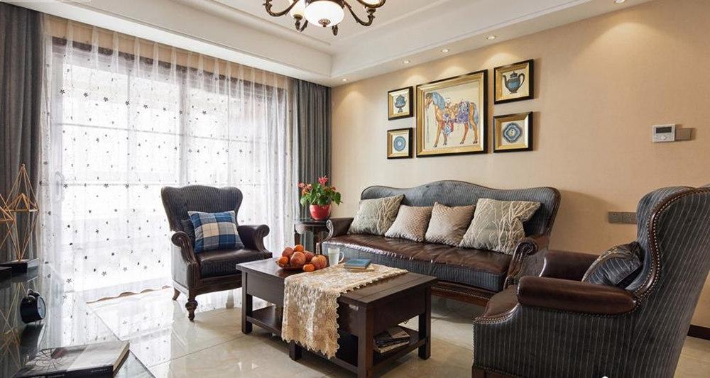 美式乡村风格-国联乐园-三室两厅-127平-装修实景效果图