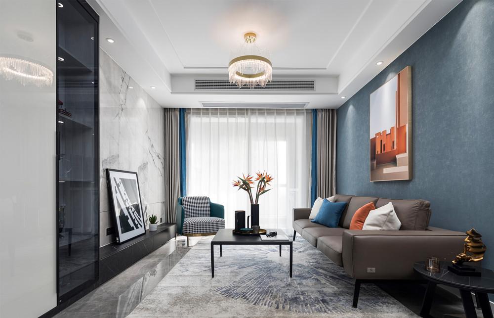 现代风格-宝能城-两室两厅-89平-装修实景效果图