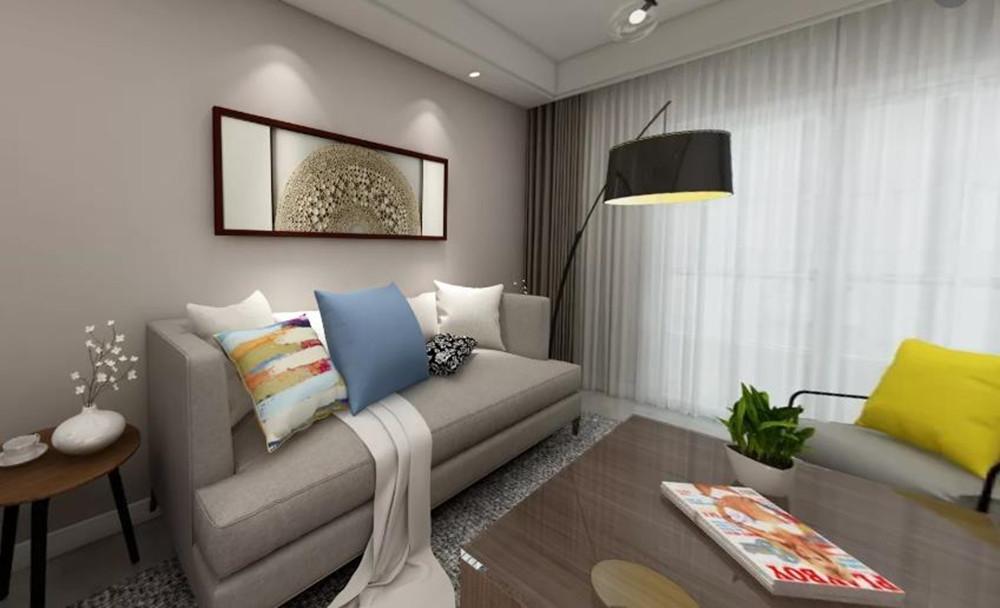现代简约-中海凤凰熙岸-三室两厅-118平-酷家乐全景图