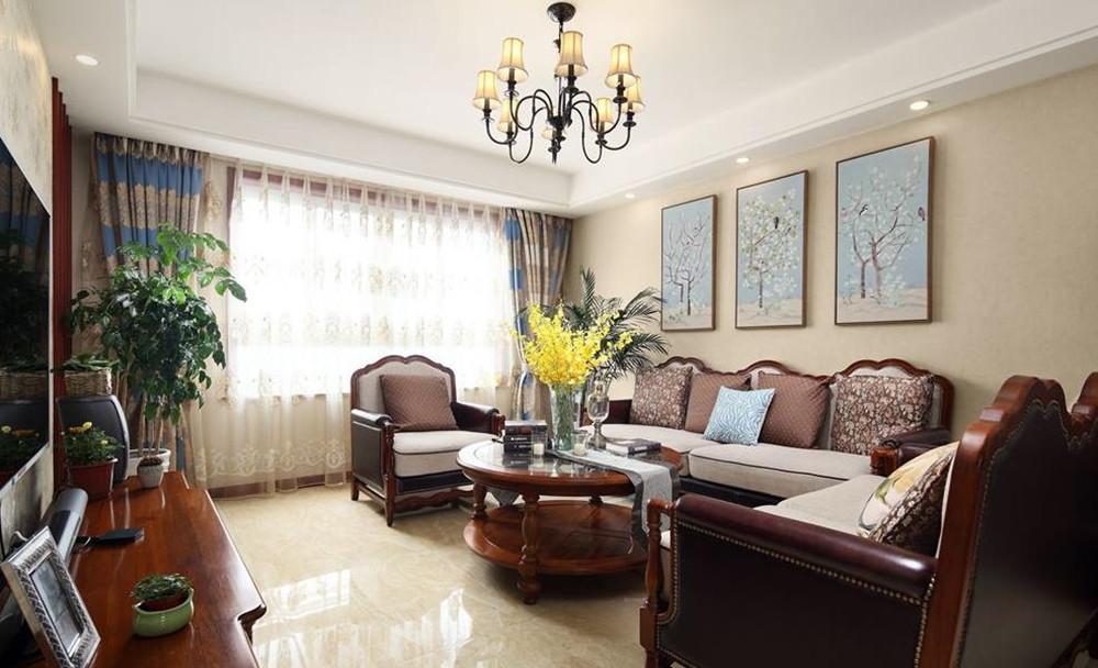 小美风格-恒威中央领地-四室两厅-140平-装修实景效果图