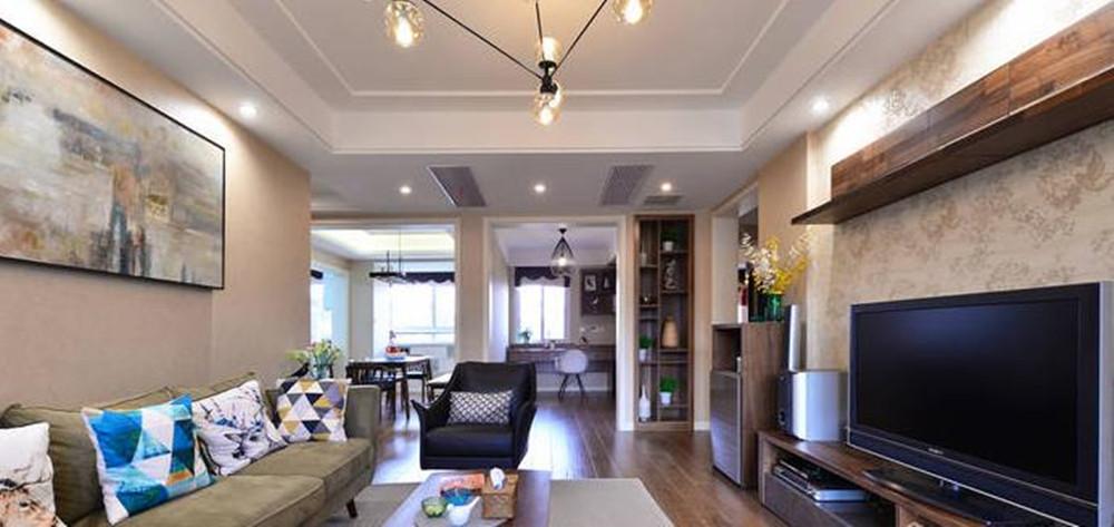 现代简约风格-复地悦城-三室两厅-117平-装修实景效果图