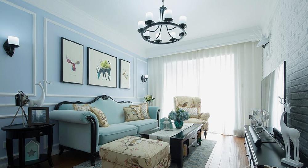 简美风格-朗诗太湖绿郡-两室两厅-103平-装修实景效果图