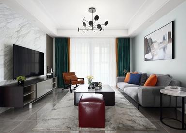 现代风格-尚东雅园-三室两厅-115平米-装修实景效果图